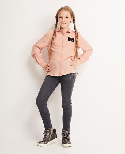 Dunkelgraue Skinny-Jeans